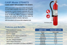 CASP Aerospace unveils Halon 1211 replacement option.